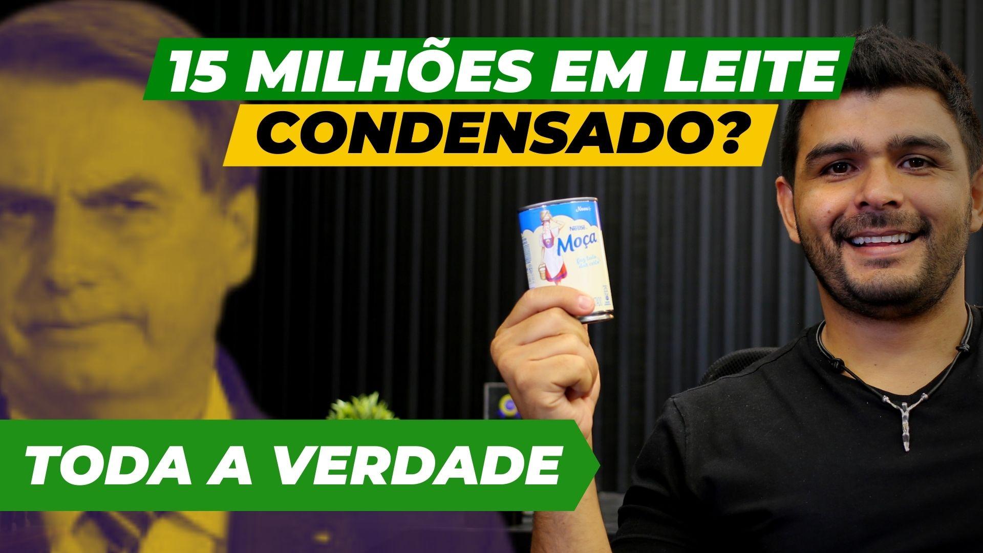 R$15 milhões em leite condensado: conheça a verdade